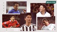 Park Ji-sung, Shinji Okazaki, Son Heung-min, Harry Kewell dan Ki Sung-yueng. (Bola.com/Dody Iryawan)