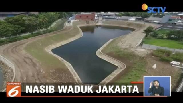 Waduk Kaja di Kelapa Dua Wetan, Ciracas, Jakarta Timur, menjadi waduk percontohan untuk merealisasikan cita-cita Pemprov DKI Jakarta membangun waduk penangkal banjir.