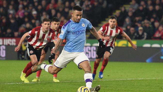 Striker Manchester City, Gabriel Jesus (OLI SCARFF / AFP)