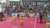 Pertandingan final sepak takraw di ASEAN School Games (ASG 2019) (Liputan6.com/Switzy Sabandar)