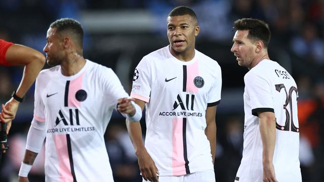 Foto: Trio MMN, Messi-Mbappe-Neymar Gagal Bawa PSG Tundukkan Brugge di Matchday Pertama Liga Champions 2021 / 2022