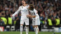 Duo Real Madrid Lucas Vazquez dan Luka Modric. (AFP/Gabriel Bouys)