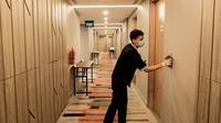 Ilustrasi kamar isolasi mandiri pasien Covid-19 tanpa gejala di hotel. (dok. Biro Komunikasi Kemenparekraf/Dinny Mutiah)