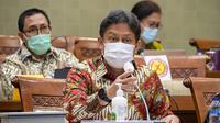 Rapat kerja Menteri Kesehatan RI Budi Gunadi Sadikin dengan Komisi IX DPR RI di Gedung DPR RI Jakarta pada 12 Januari 2021. (Dok Kementerian Kesehatan RI)