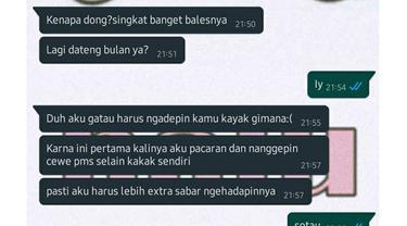 6 Chat Gebetan Lagi PMS Ini Bikin Elus Dada, Melatih Kesabaran