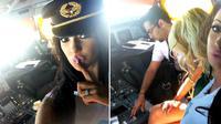 Seorang pilot penerbangan komersial dicabut ijinnya karena memperbolehkan orang tanpa hak masuk dalam kokpit pesawat yang sedang terbang.