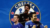 Chelsea - Didier Deschamps, Alexandre Pato, Deco (Bola.com/Adreanus Titus)