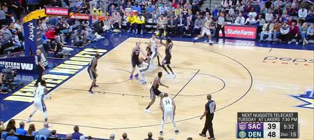 Berita video game recap NBA 2017-2018 antara Denver Nuggets melawan Sacramento Kings dengan skor 130-104.