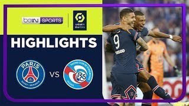Berita video highlights Ligue 1, PSG kalahkan Starsbourg 4-2 walau tanpa Lionel Messi