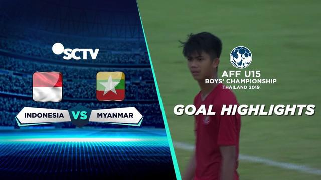 Berita video gol-gol yang dicetak Timnas Indonesia U-15 ke gawang Myanmar U-15 di Piala AFF U-15 2019, Minggu (4/8/2019).