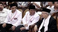 Cawapres Ma'ruf Amin mendatangi acara relawan Barisan Nusantara di Medan.