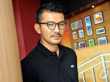 Rio Dewanto saat hadiri jumpa pers untuk film Filosopi Kopi di Kuningan City, Jakarta, Kamis (8/1/2015). (Liputan6.com/Panji Diksana)