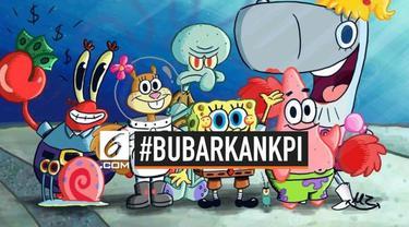 KPI resmi menegur tayangan Spongebob Squarepants yang dinilai melanggar standar program siaran KPI 2012. Warganet langsung berkomentar dengan tagar #BubarkanKPI.