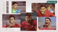 Osvaldo Haay, Nadeo Argawinata, Andy Setyo, Asnawi Bahar, Saddil Ramdani. (Bola.com/Dody Iryawan)