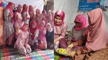 Viral Emak-emak Nobar Acara Lamaran Lesty Kejora dan Rizky Billar, Heboh
