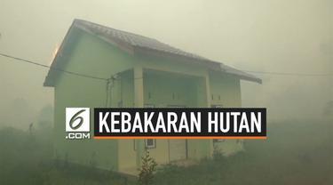 Kebakaran Lahan dan Hutan di Kota Sampit meluas ke permukiman warga. Warga perumahan panik dan berusaha menyelamatkan diri. Petugas berusaha memadamkan api dan mengevakuasi warga.