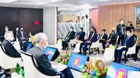 ASEAN Leaders Meeting yang dihadiri para pemimpin negara ASEAN telah dimulai dan fokus membahas isu Myanmar. (Foto: Laily Rachev - Biro Pers Sekretariat Presiden)
