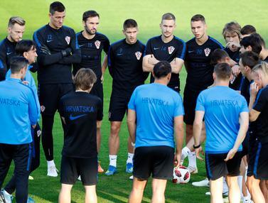 Melihat Latihan Timnas Kroasia Jelang Hadapi Prancis di Final