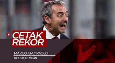 Berita video AC Milan memecat Marco Giampaolo pada Selasa (8/10/2019). Giampaolo mencetak rekor klub setelah pemecatan tersebut. Rekor apakah itu?