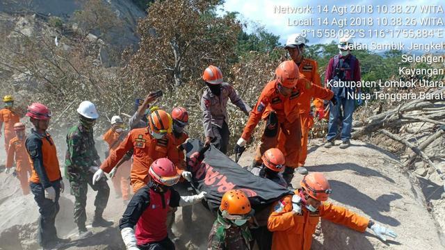 Korban Jiwa Gempa Lombok Terus Bertambah, Kini Mencapai 436 Orang