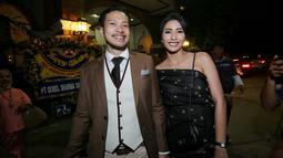 Tyas Mirasih pun memuji konsep yang disajikan dalam resepsi pernikahan kedua Nadine dan Dimas yang digelar di Marina Batavia, kawasan Sunda Kelapa, Jakarta Utara, Minggu (17/7/2018). (Adrian Putra/Bintang.com)