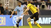 Pemain Manchester City asal Ajazair, Riyad Mahrez. (AFP ELSA)