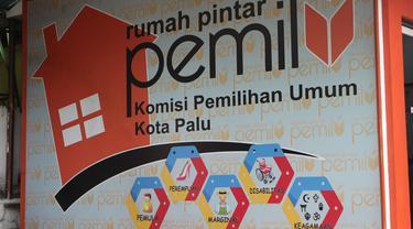 rumah pintar pemillu di kantor KPU Palu