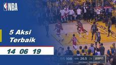 Berita video aksi-aksi terbaik yang terjadi pada game 6 Final NBA 2019, Toronto Raptors vs Golden State Warriors, yang berakhir dengan skor 114-110 di Oracle Arena, Jumat (14/6/2019) pagi hari WIB.