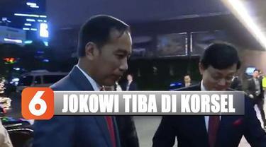 Dari bandara, Jokowi melanjutkan perjalanan menuju hotel tempat menginap selama berada di Busan.