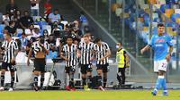 Duel Napoli versus Juventus di Liga Italia 2021/2022. (Carlo Hermann / AFP)