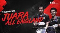 Mohammad Ahsan dan Hendra Setiawan Juara All England. (Bola.com/Dody Iryawan)