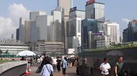 Salah satu view kota Hong Kong di bulan Maret 2019.