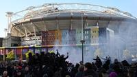 Johan Cruyff Arena selalu dipenuhi fans fanatik Ajax Amsterdam saat tim kesayangan main di eridivisie atau Liga Champions (AFP)