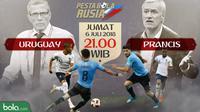 Piala Dunia 2018 Uruguay Vs Prancis Head to Head (Bola.com/Adreanus Titus)