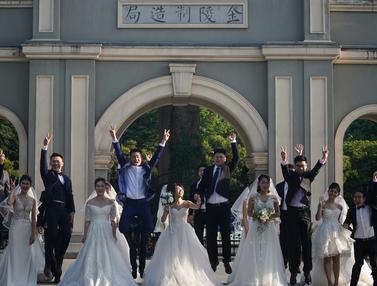 Ditunda Akibat Corona, Puluhan Pasangan di China Nikah Massal