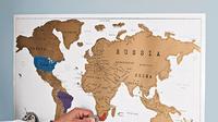 4 peta dunia ini akan membuat Anda bermotivasi untuk menjelajahi seluruh dunia (Foto : boredpanda.com)