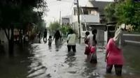 Banjir Ciledug,Tangerang sudah mulai surut.