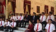 Presiden Jokowi mengumumkan 12 nama wakil menteri di Istana, Jumat (25/10/2019) (Sports Unisda.com/ Lizsa Egeham)