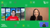 "Menparekraf Sandiaga Uno di talkshow ""Bincang Bangsa"" bertajuk ""Membuka Pintu Inklusivitas lewat Kolaborasi"" secara virtual di Panggung Nasional RDI, Minggu (1/8/2021)."