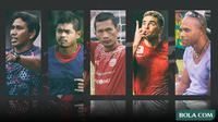 Bima Sakti, Bambang Pamungkas, Ismed Sofyan, Cristian Gonzales, dan Keith Gumbs (Bola.com/Adreanus Titus)