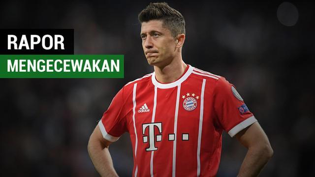 Berita video rapor mengecewakan dari pemain-pemain pada laga leg kedua semifinal Liga Champions 2017-2018, Real Madrid vs Bayern Munchen.