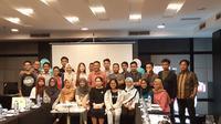 "Peserta pelatihan ""Digital Literacy for Internet Activist dan Plt Direktur Eksekutif ICT Watch Widuri. Liputan6.com/ Agustinus Mario Damar"