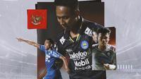 Timnas Indonesia - Frets Butuan, Beckham Putra, Bayu Fiqri (Bola.com/Adreanus Titus)