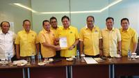 DPD Golkar Bangka Belitung memberikan dukungan kepada Airlangga Hartarto di Munas Golkar Desember mendatang. (Istimewa)