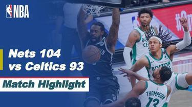 Berita video highlights game 1 babak I wilayah timur NBA Playoffs 2021 antara Brooklyn Nets melawan Boston Celtics yang berakhir dengan skor 104-93, Minggu (23/5/2021) pagi hari WIB.