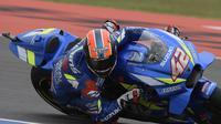 Aksi Alex Rins di MotoGP Argentina (JUAN MABROMATA / AFP)