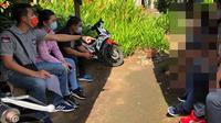 Aparat Polsek Airmadidi saat menangani kasus penganiayaan yang melibatkan 2 remaja putri di Minahasa Utara.