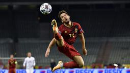 Dries Mertens tak dipanggil oleh Roberto Martinez untuk memperkuat Belgia pada kualifikasi Piala Dunia 2022 zona Eropa akibat cedera bahu yang ia derita sejak awal Juli lalu. Dirinya dikabarkan baru pulih pada 1 September kemarin. (Foto: AFP/John Thys)