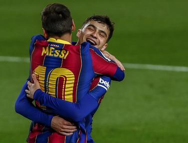 FOTO: Messi Cemerlang dan Tidak Egois, Barcelona Sikat Getafe 5-2 - Lionel Messi; Pedri