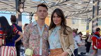 Luna Maya bersama Thomas Doherty di New York Fashion Week 2021 (Foto: Instagram/@lunamaya)